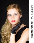studio portrait of pretty young ... | Shutterstock . vector #93416134