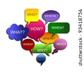 abstract big speech bubble | Shutterstock . vector #93418756
