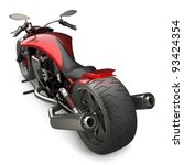 Concept Motorcycle Isolated On...
