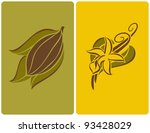 cocoa bean with leaves and... | Shutterstock .eps vector #93428029