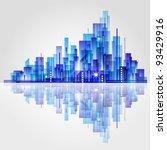 city landscape. raster version. | Shutterstock . vector #93429916