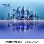 city landscape | Shutterstock .eps vector #93429964