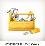 wooden toolbox  10eps | Shutterstock .eps vector #93430138