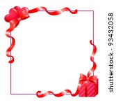 valentines frame with hearts... | Shutterstock .eps vector #93432058