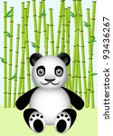panda in a bamboo forest | Shutterstock .eps vector #93436267