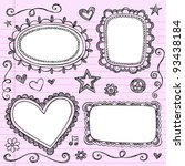 frames and borders hand drawn... | Shutterstock .eps vector #93438184