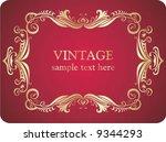 vintage frame. | Shutterstock .eps vector #9344293