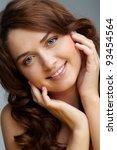 portrait of charming girl... | Shutterstock . vector #93454564