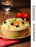 italian tagliatelle   Shutterstock . vector #93456523