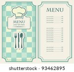 green menu for a cafe or... | Shutterstock .eps vector #93462895