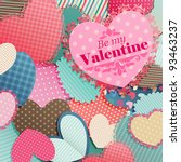 valentine s day card with pile... | Shutterstock .eps vector #93463237