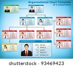 company structure diagram with... | Shutterstock .eps vector #93469423