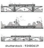 vector illustration.train on a... | Shutterstock .eps vector #93480619