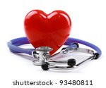 stethoscope and heart | Shutterstock . vector #93480811
