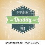 old dark retro vintage grunge... | Shutterstock .eps vector #93482197