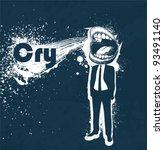 man screaming | Shutterstock .eps vector #93491140