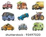 set of transport   cartoon | Shutterstock .eps vector #93497020