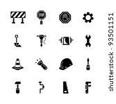 computer icon set | Shutterstock .eps vector #93501151
