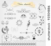 calligraphic design elements | Shutterstock .eps vector #93504886