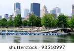 Downtown Montreal in Quebec, Canada - stock photo