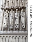Saints of Notre Dame de Paris - stock photo