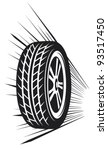wheel  vector tyre  | Shutterstock .eps vector #93517450