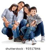 beautiful latinamerican family  ... | Shutterstock . vector #93517846