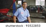 portrait of auto shop mechanic | Shutterstock . vector #93522853