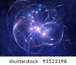 abstract model of outer space...   Shutterstock . vector #93523198