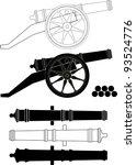 ancient artillery gun xviii  ...   Shutterstock .eps vector #93524776