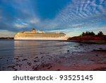 Cruise Ship Navigates Narrow...