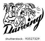 big band dancing   retro... | Shutterstock .eps vector #93527329