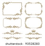 vector set of decorative... | Shutterstock .eps vector #93528283