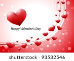 valentine's day greeting card | Shutterstock .eps vector #93532546