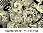 vector illustration  abstract... | Shutterstock .eps vector #93541693
