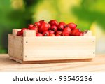ripe briar in wooden box on... | Shutterstock . vector #93545236