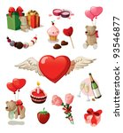 light brown teddy bears with... | Shutterstock .eps vector #93546877