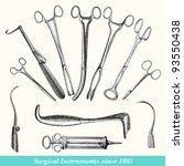 surgical instruments   vintage... | Shutterstock . vector #93550438