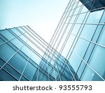 blue glass skyscrapers at night | Shutterstock . vector #93555793