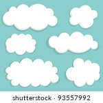 Blue Sky And Clouds. Vector...
