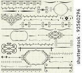 vector set of vintage design... | Shutterstock .eps vector #93560296