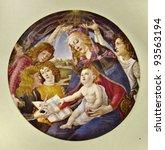 Постер, плакат: Sandro Botticelli Magnificat Madonna