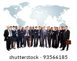 young attractive business... | Shutterstock . vector #93566185