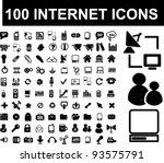 100 internet icons set  vector | Shutterstock .eps vector #93575791