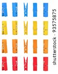 Wood Clothes Pin Colors With...