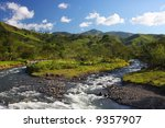 Mountain Landscape With A River ...