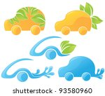 vector collection of ecological ... | Shutterstock .eps vector #93580960