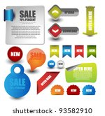 web elements collection | Shutterstock .eps vector #93582910