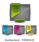 hi quality elements for web... | Shutterstock .eps vector #93583135