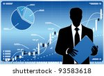 businessman silhouette with... | Shutterstock .eps vector #93583618